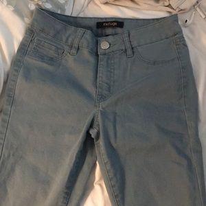 Light teal skinny jeans jeggings